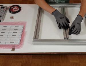 Cadre aluminium DIY LED