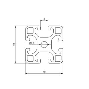 Aluminum profile 4040 groove 8