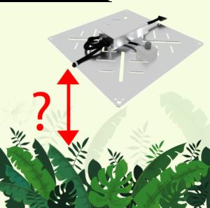 Abstand von Pflanzenlampen